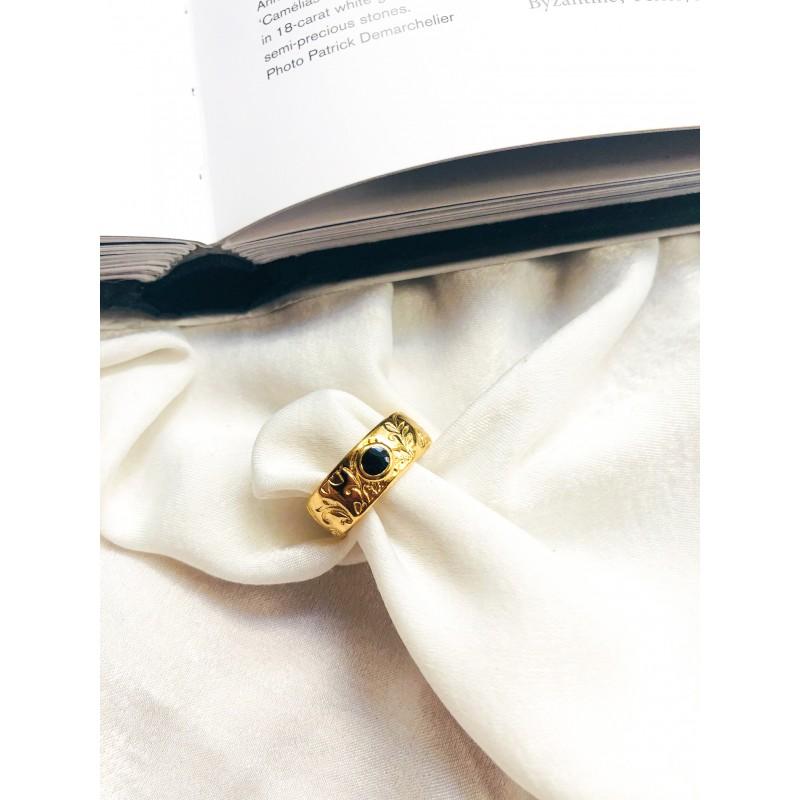 Brisa Gold Black kymata jewels