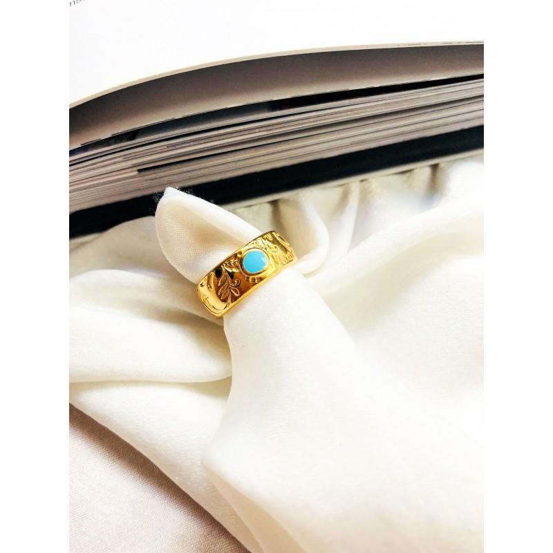 Brisa Gold Turquoise kymata jewels