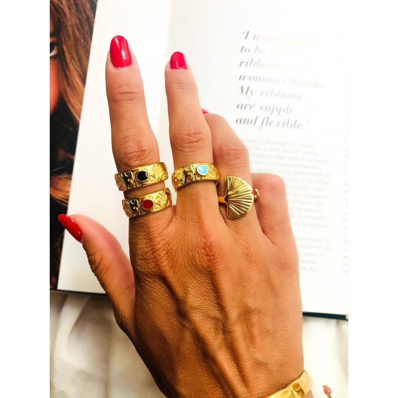 Brisa Gold Red kymata jewels