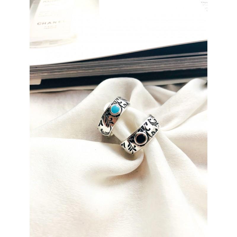 Brisa Silver Black kymata jewels