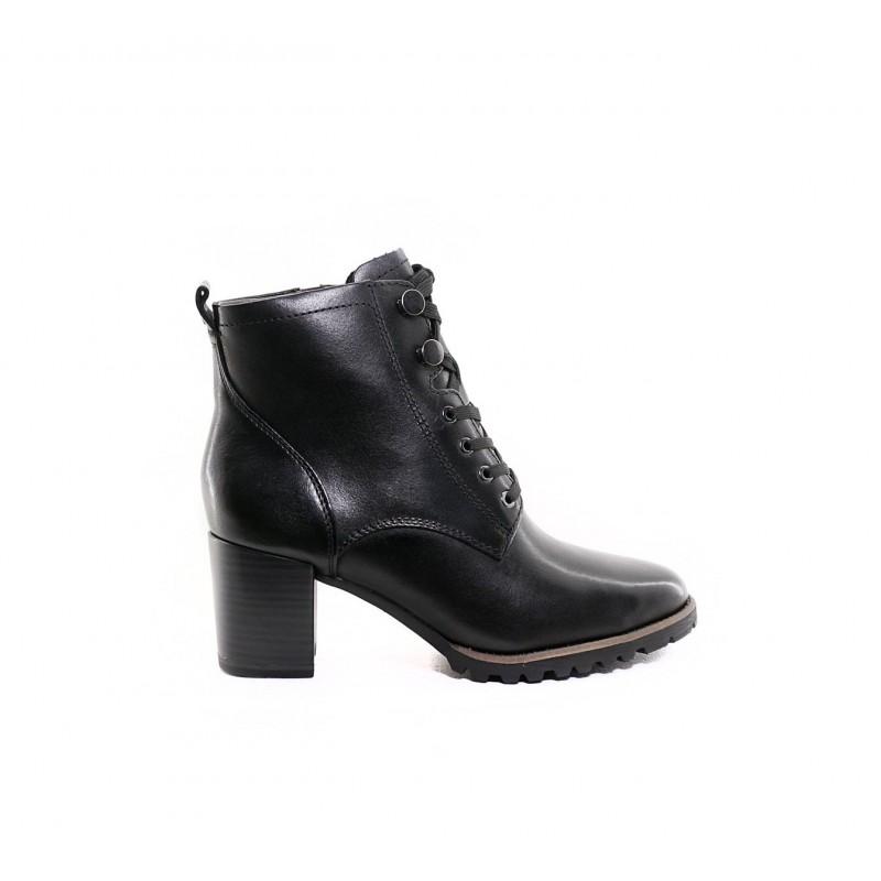 1-25103 black leather tamaris