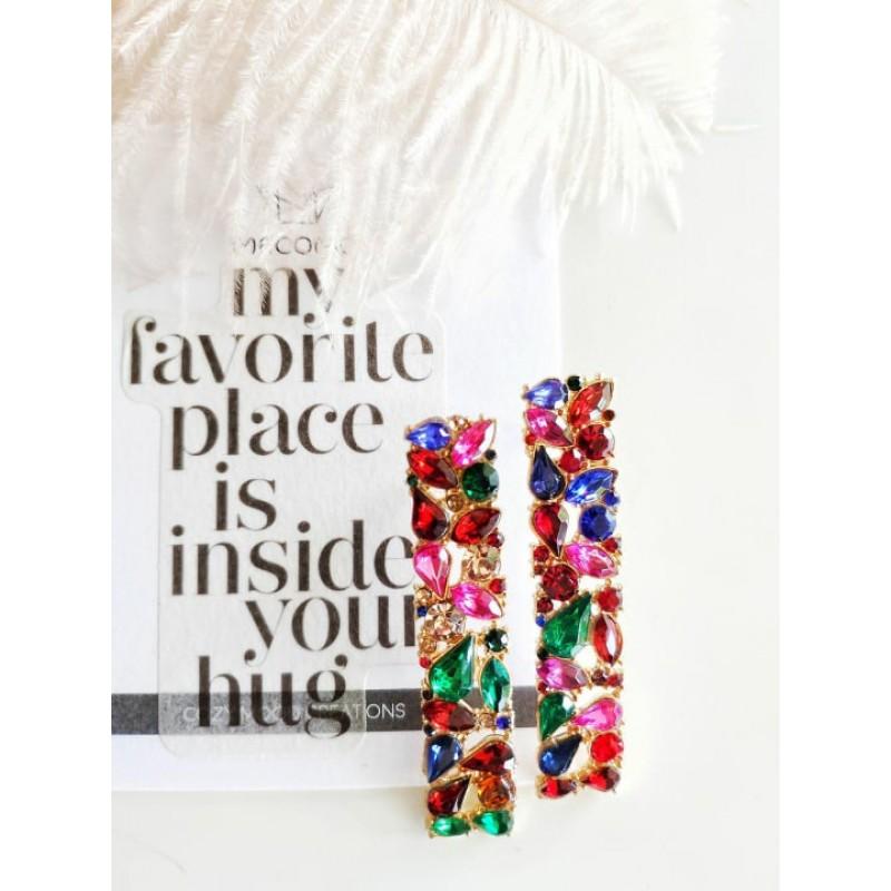 crystal earrings macomo