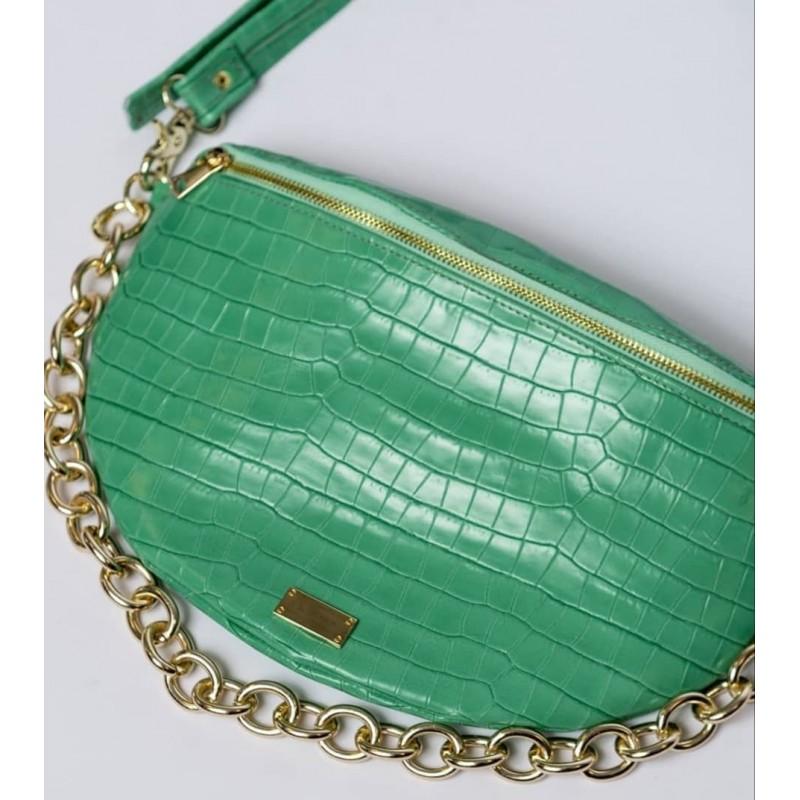 Clic Belt Bag green leather (small) CLIC JEWELS