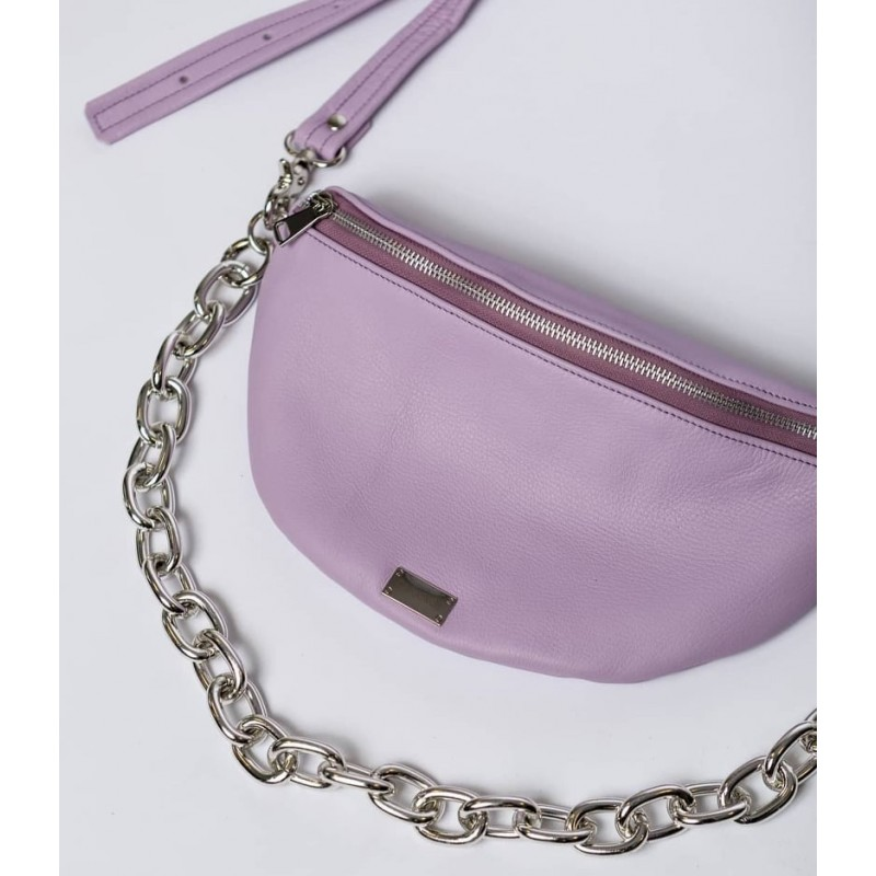Clic Belt Bag purple leather (small) CLIC JEWELS