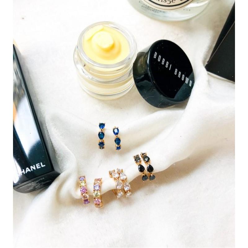 Bright Moments Blue Ear Cuffs kymata jewels