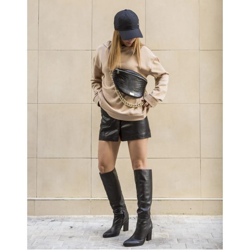 Clic Belt Bag black leather (small) CLIC JEWELS